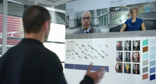 futuro vidro touchscreen