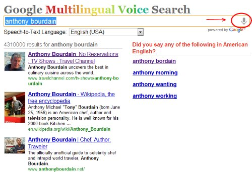 Google Multilingual Voice Search